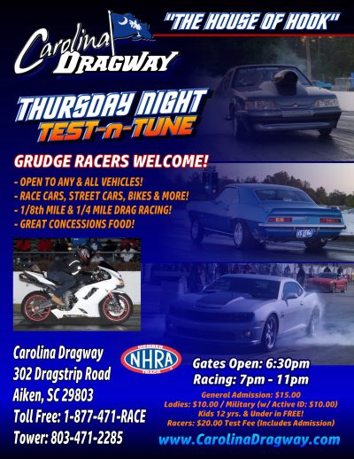 Carolina Dragway Tune | Thoroughbred Country