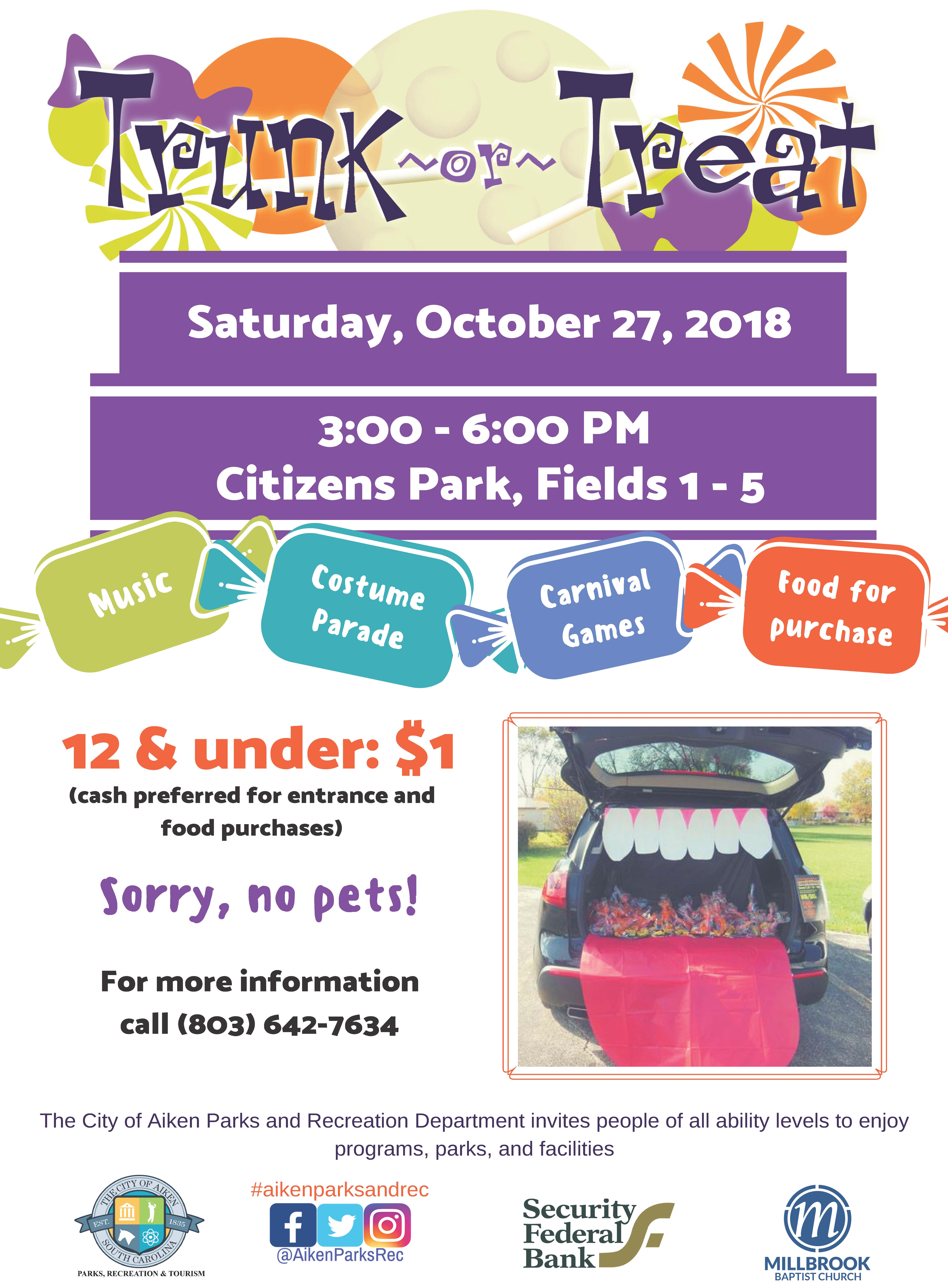 2018 City of Aiken Trunk or Treat | Thoroughbred Country