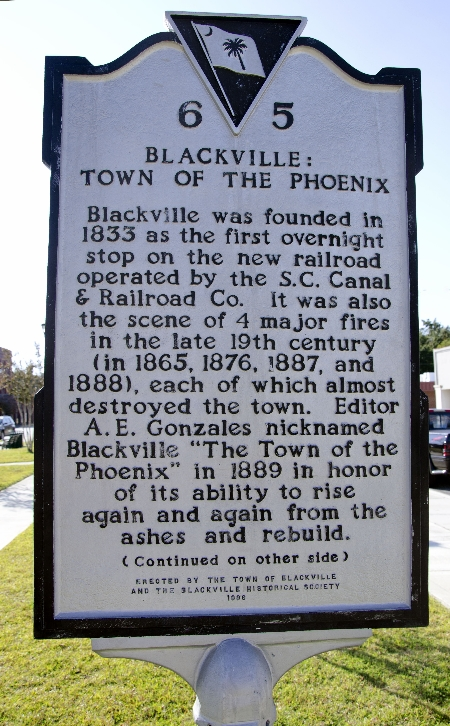 Town of the Phoenix, Blackville Marker | Thoroughbred Country