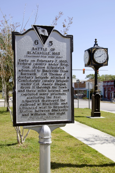 Battle of Blackville Historical Marker | Thoroughbred Country